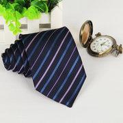 Men's Casual Business Polyester Silk Arrow Stripes Tie
