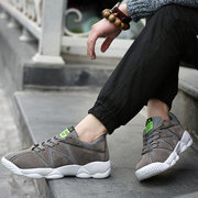 Men Color Match Breathable Chic Trend Csual Lace Up Sport Shoes