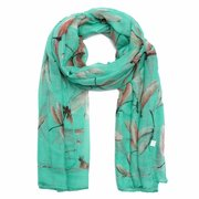 Women Summer Sunscreen Scarf Dragonfly Print Dragonfly Pattern Animal Print Shawl