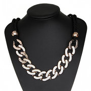 Punk Gold Plated Statement Necklace
