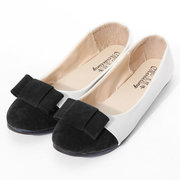 Casual Leather Butterfly Knot Flat Shoes