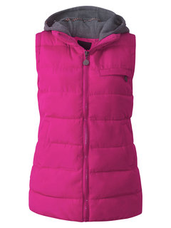 Women Sleeveless Zipper Pure Color Thicken Hooded Down Coat
