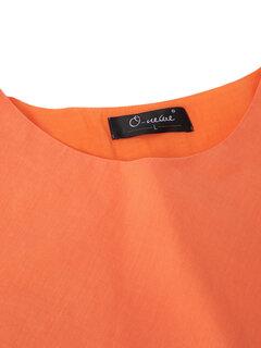 O-Newe Vintage Pure Color вышивки выдалбливают Высокий Низкий платье для женщин