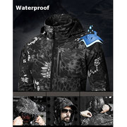 Military Style Outdoor Thin Softshell Multi-Pocket Waterproof Arm Jacket For Men