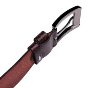 Male Fashion Business Casual Retro Leather Pin Buckle Belt