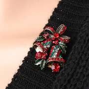 Simple Brooch Alloy Drop Christmas Tree Bell Bow Knot Brooch
