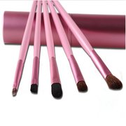5Pcs Pony Hair Eyeshadow Make-up Brushes Kit Beauty Facial Brush With Round Organizer