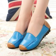 Color Matching Soft Sole Slip On Flat Loafers