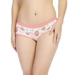 M-3XL Women Seamless Modal Rose Printing Panties Elastic Low Waist Underwear