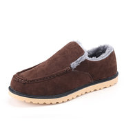 Fur Lining British Style Slip On Warm Boots For Men
