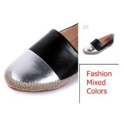 Casual Color Matching Flat Loafers
