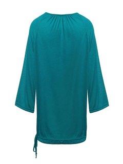 Повседневный Сыпучие 3/4 рукава Solid Женщины Street Блуза