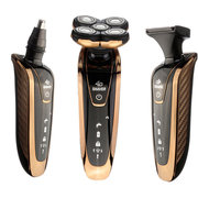 KM-5886 3 In 1 4D Rechargeable Shaver Washable Five Head IPX7 Rotary Razor Nose Hair Trimmer