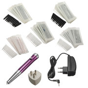 100-240V Body Tattoo Eyebrow Machine Pencil 50 Needles Set Kit