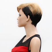 Star Style Synthetic Fiber Women Short Blond Hair Wig