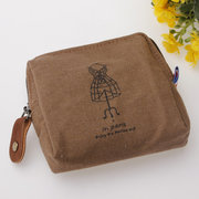 Women Classic Canvas Coin Bag Zipper Wallet