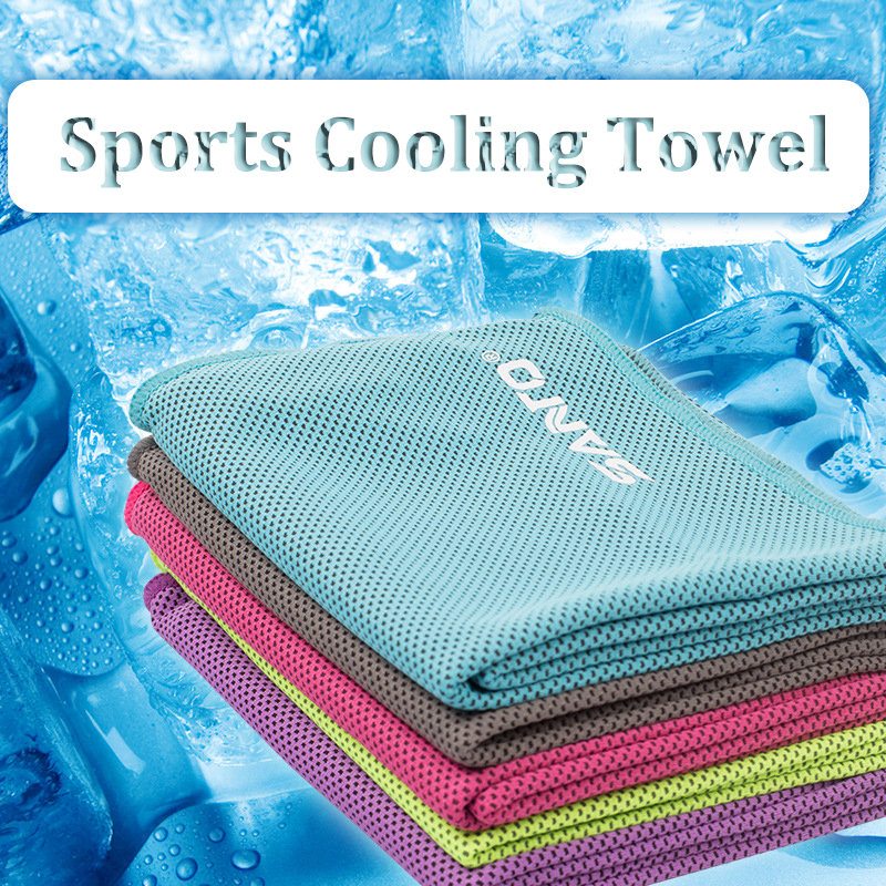 santo sports cooling towel summer sweat absorbent towel quick dry washcloth for gym running yoga
