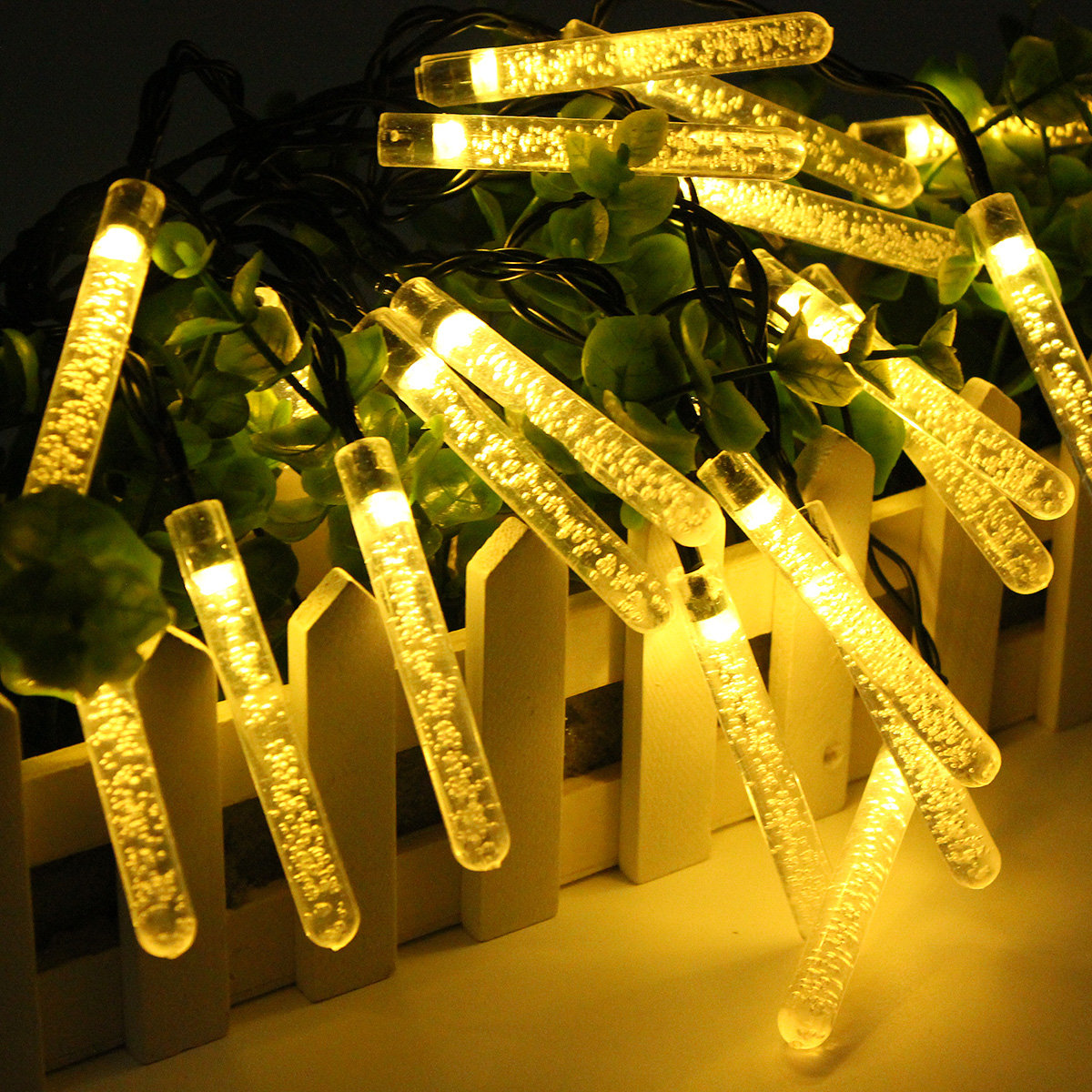 dp amazon pack glitter home kitchen replacement vickerman lights light com in bubble clear watt christmas bulb
