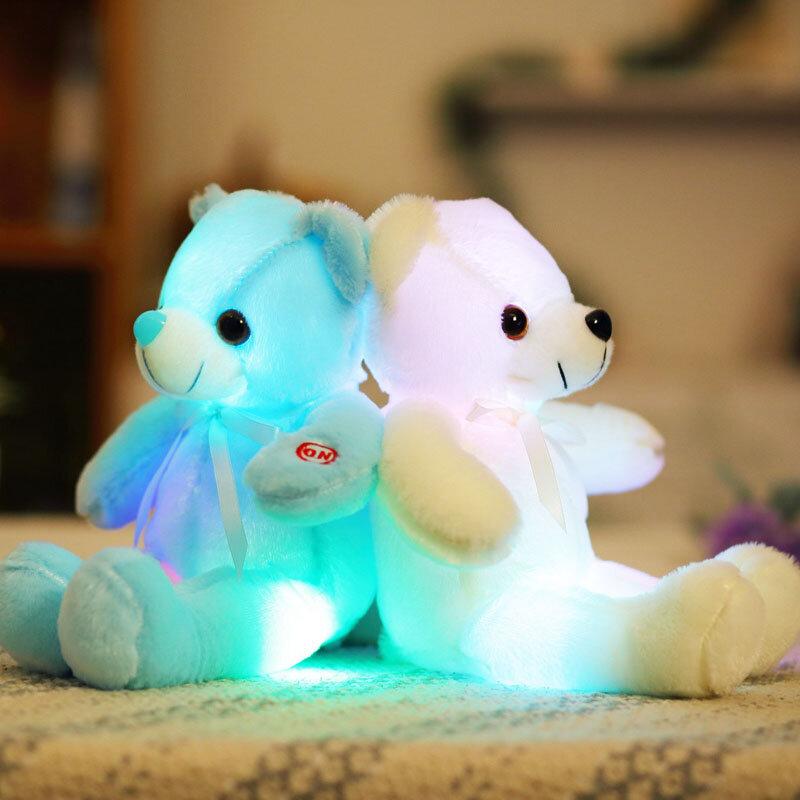 32cm Small LED Light Toys Plush Flashing Bear Toy, Yellow