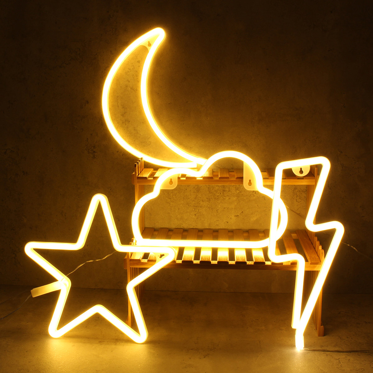 Diy Art Sign Star Cloud Heart Neon Home Party Wall Decor Led Night