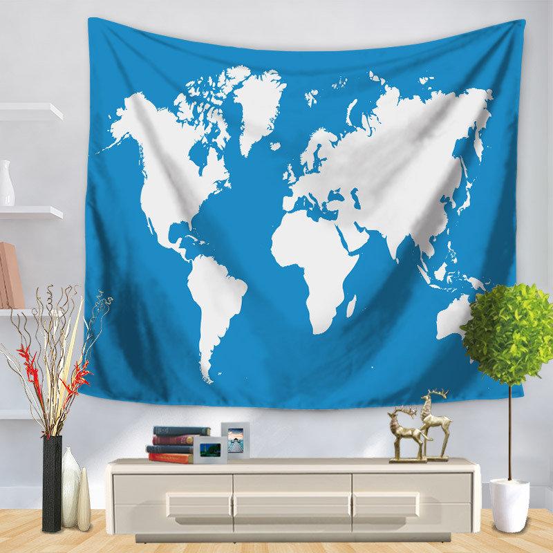 High quality 150130150200cm world map wall hanging tapestry 150130150200cm world map wall hanging tapestry polyester yoga mat beach gumiabroncs Choice Image