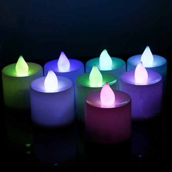 LED Flickering Electronic Colorful Candles Light Holiday Decoration