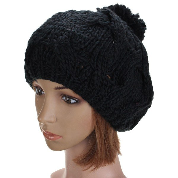 Frauen Winter Warm Kürbis Ball Cap Knit Wolle Beanie Hut Häkeln ...