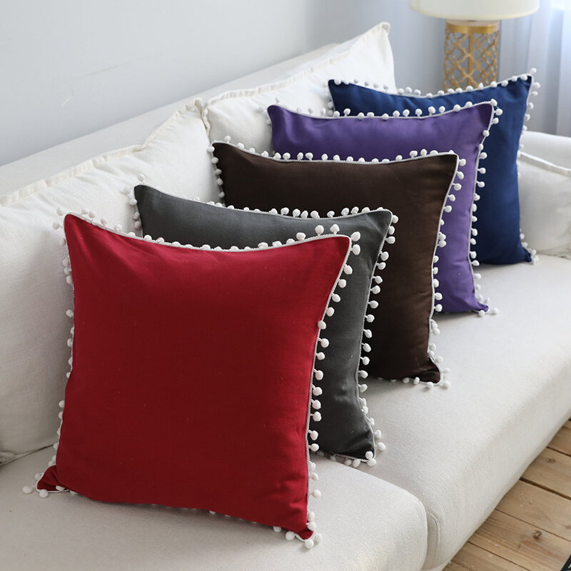 Pure Color Soft Decoration Pillowcase
