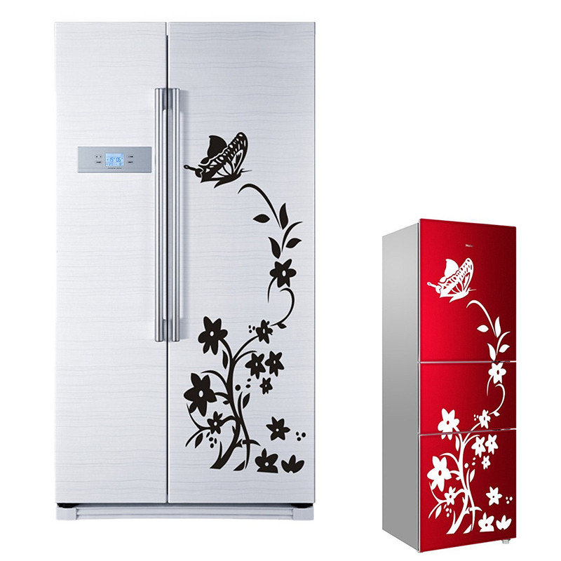 Pvc Removable Flower Vines Wall Stickers Diy Mural Fridge