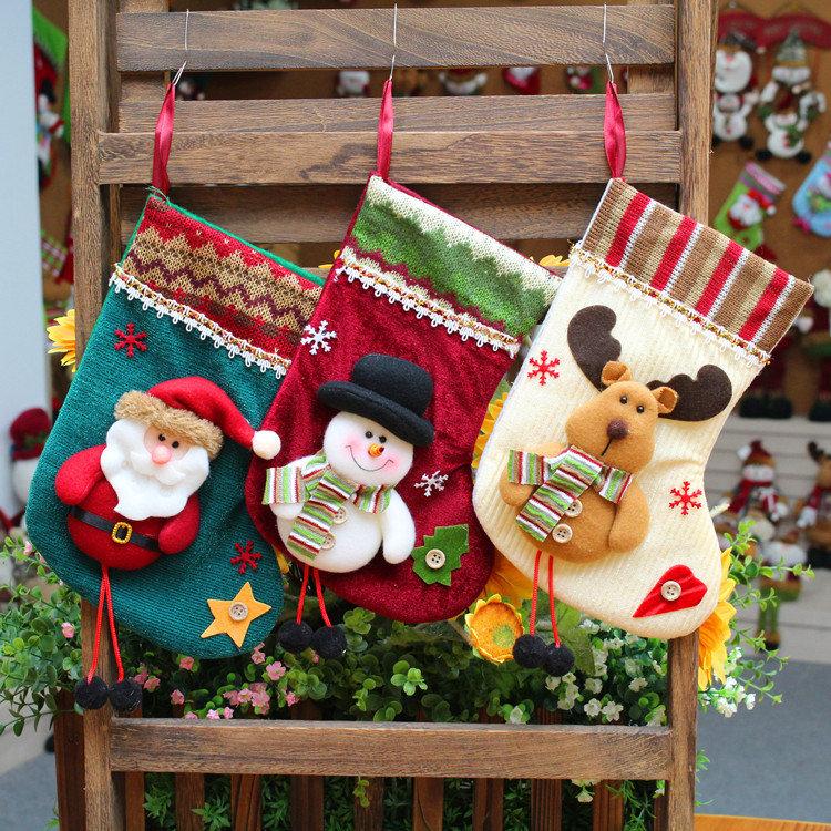 6 Stil Weihnachten Socken Ornament Hängenden Anhänger Verschönerung ...