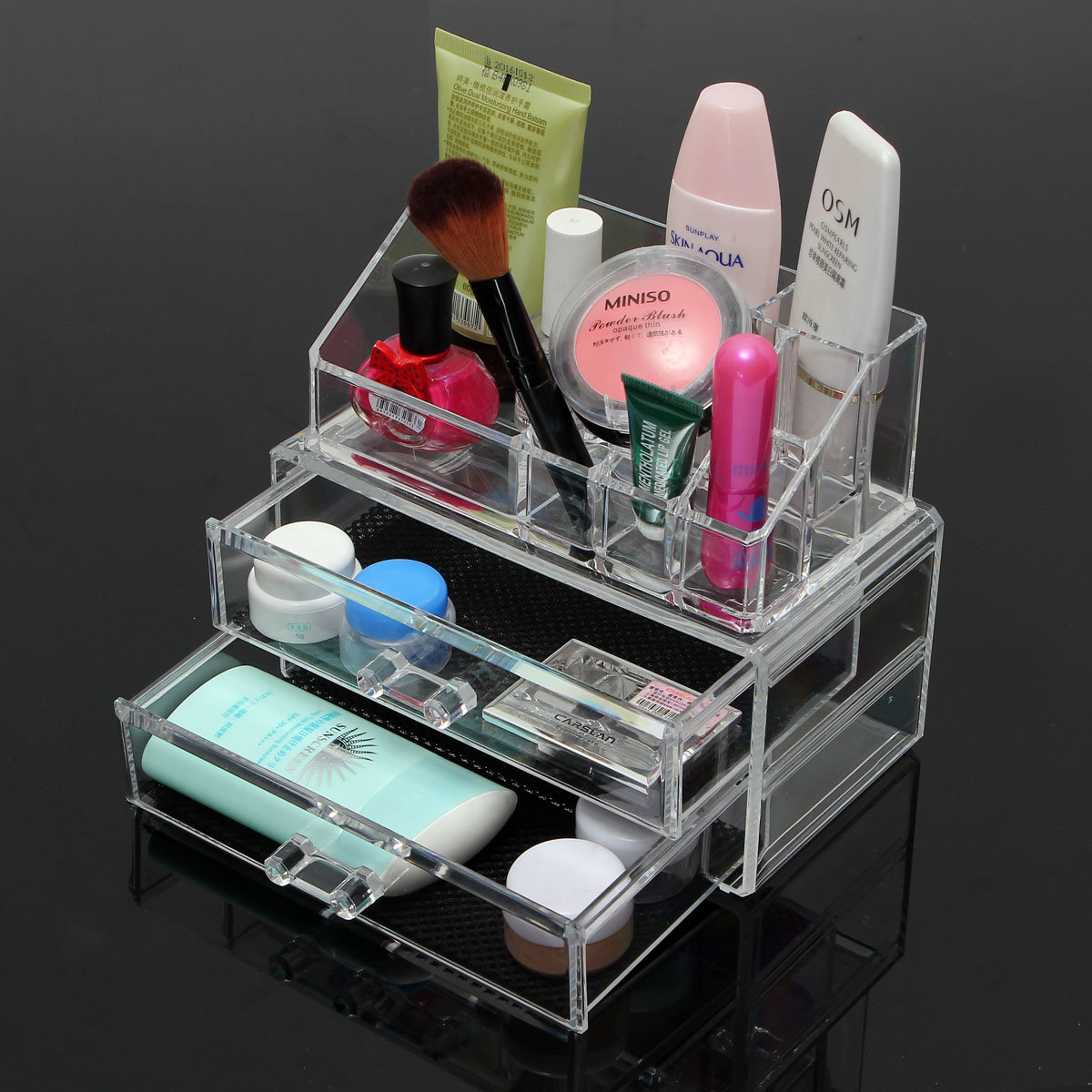 Acrylic Makeup Organizer Lipstick Display Stand Holder Cosmetic Storage  Multilayer 19x10x16cm