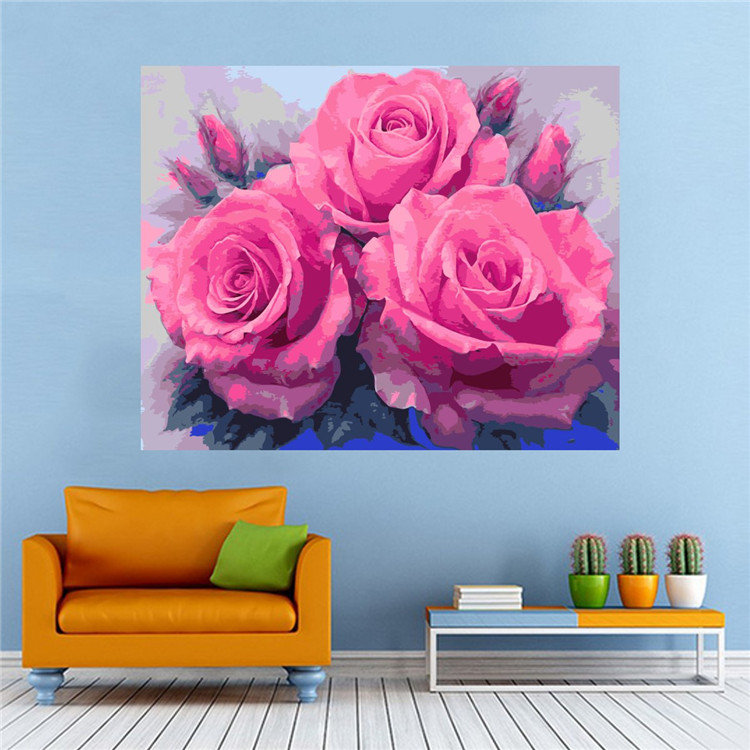 Sweet Rose Dimensions DIY Paint By Number Kit On Canvas Bedroom ...