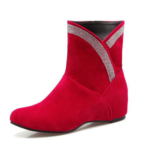 Large Size Beaded Boots, Yellow red black gray