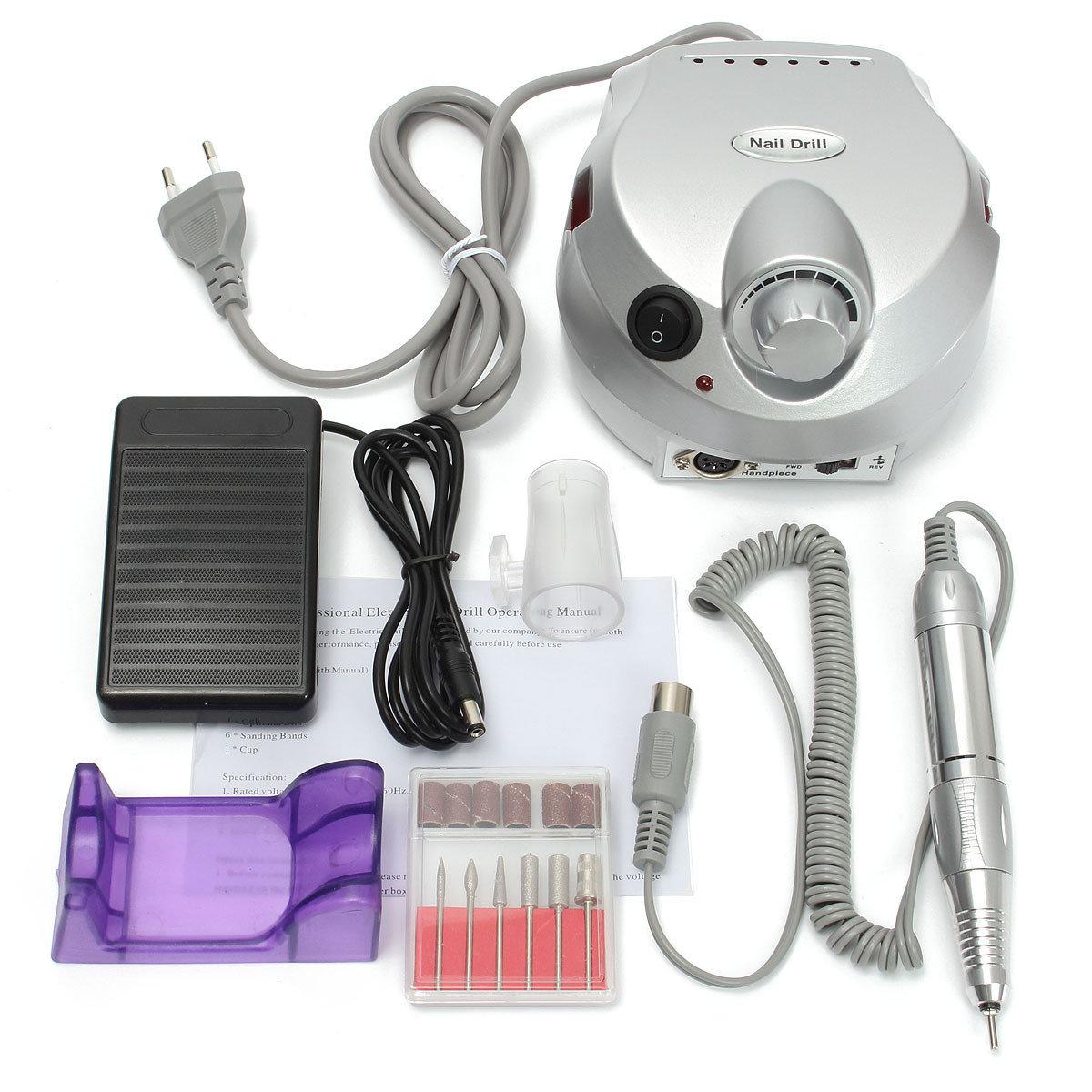 100V-240V máquina de taladro eléctrico de uñas Manicura pedicura ...
