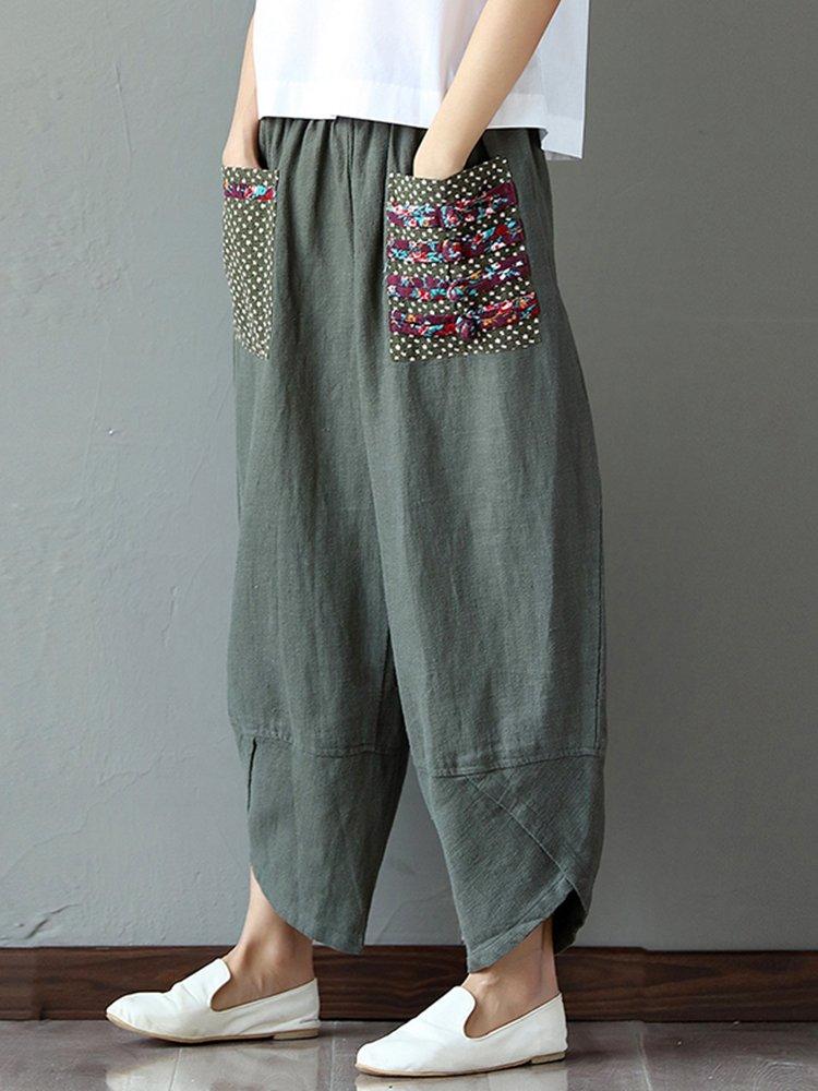 Model FASHION WOMEN Loose High Waist Wide Leg Pants Summer Trousers Culottes Palazzo - AUD 13.90 ...