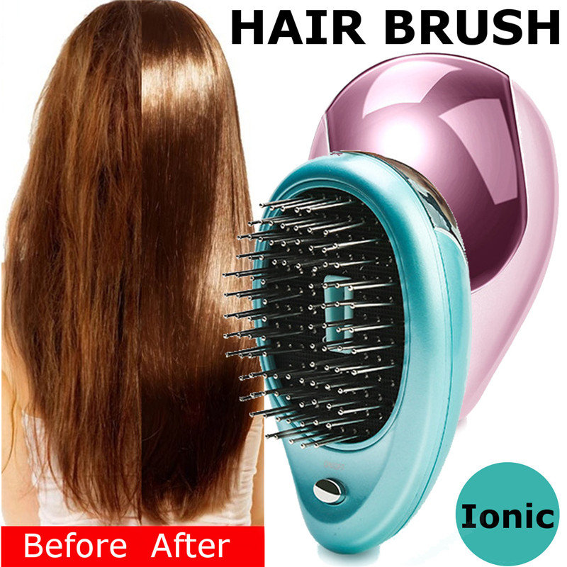 Electric Hair Ionic Comb, Green pink