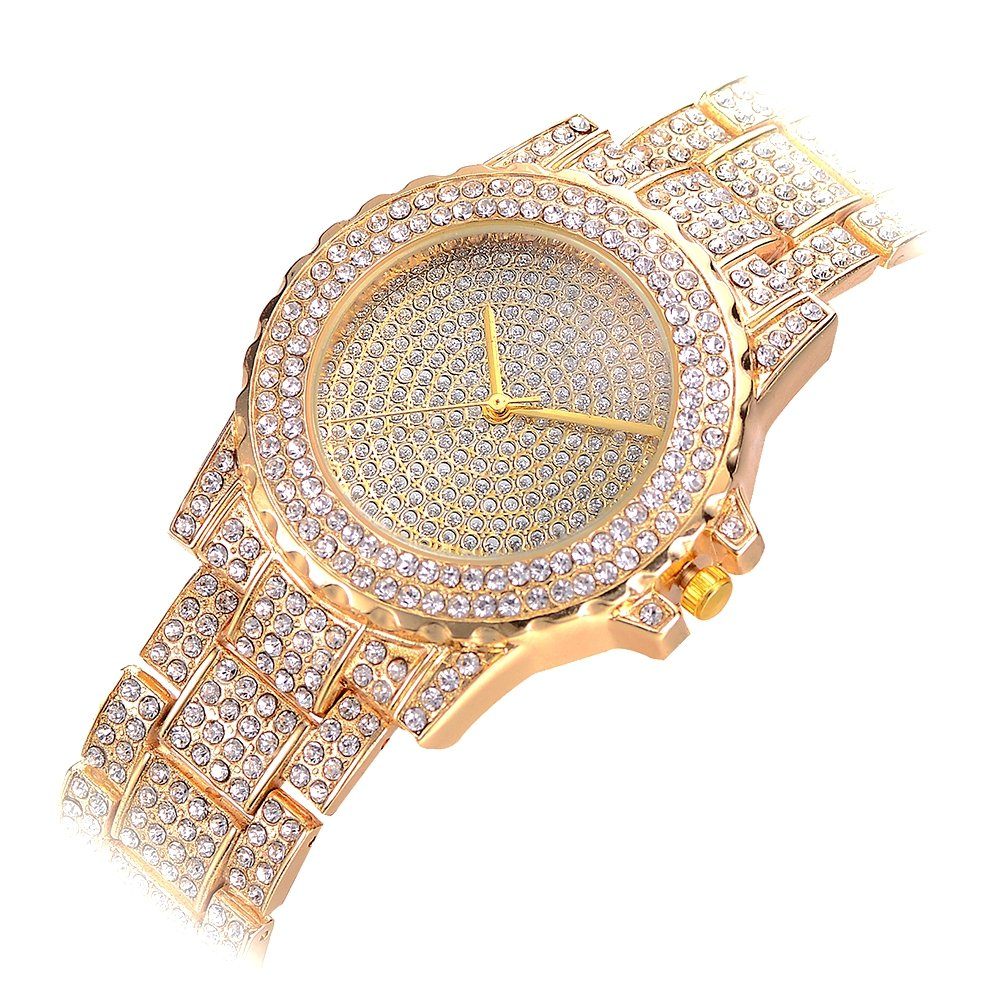 Luxury Rhinestone Lady Watches, Rose gold