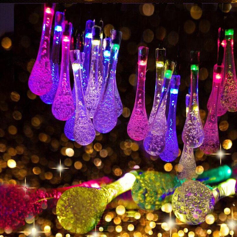 6.5M 30LED Battery Bubble Ball Fairy String Lights Garden Party Xmas Wedding Home Decor, Purple pink multicolor warm white white