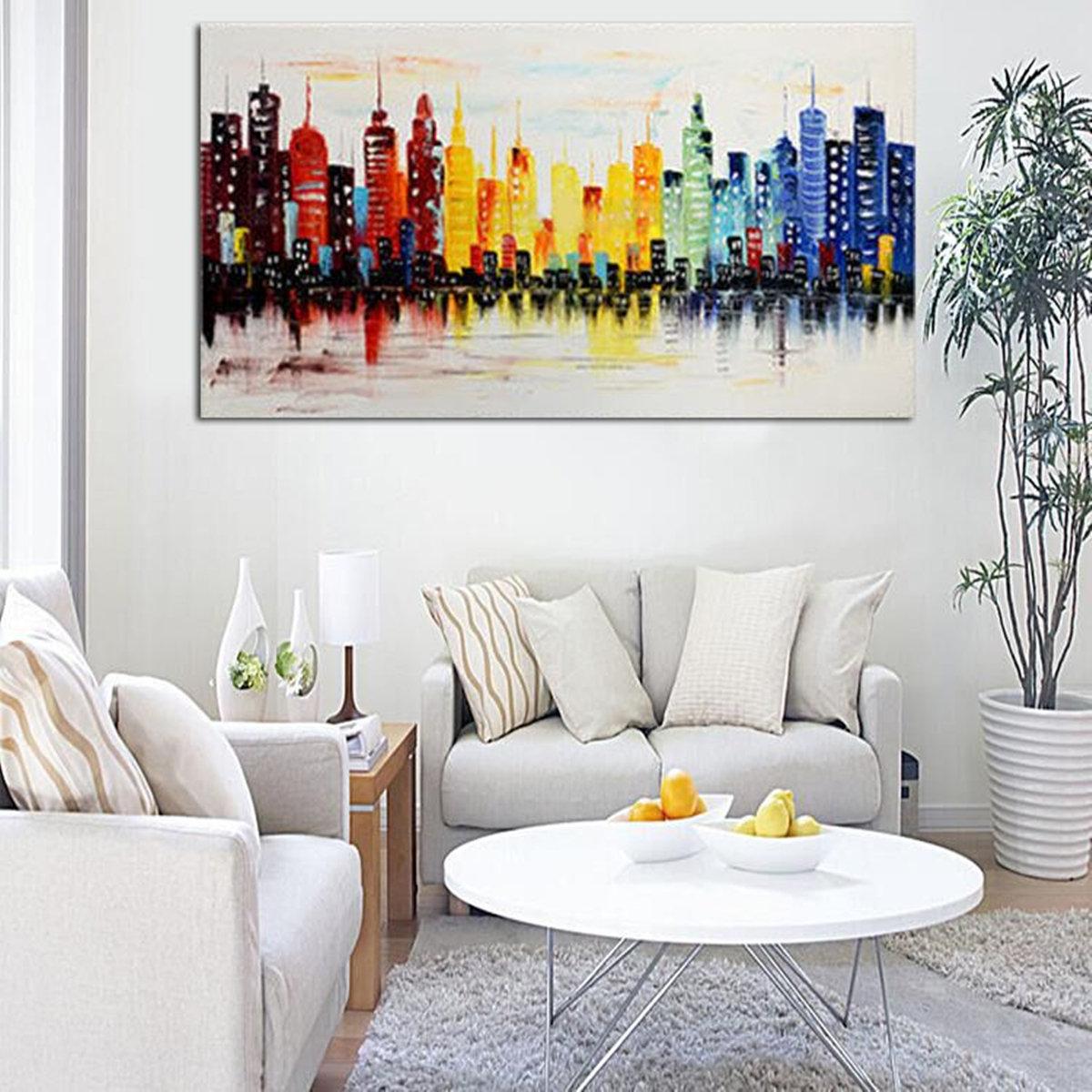 Kein Rahmen Moderne Stadt Segeltuch Abstrakter Malerei Druck Wohnzimmer  Kunst