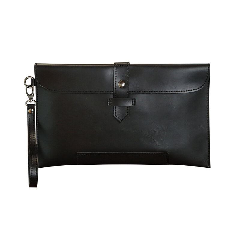 PU Retro Clutch Bags Casual Envelope Bags For Men, Coffee