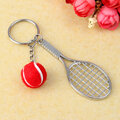 Alloy Multiple Colors Tennis Racket Keychain