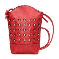 Women Rivet Bucket Bag 6.5inch Phone Bag Portable Shoulder Bag Crossbody Bags