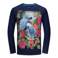 Casual 3D Animal Pattern Printing Cotton Long Sleeve Plus Size T-Shirt For Men