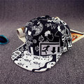 Men Women Scrawl Graffiti Hat Hip Hop Kpop Adjustable Snapback Baseball Cap