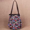 Women National Style Flower Pattern Handbag Tote Cotton Creative Shoulder Bags