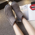 Suede Lace Decoration Slip On Keep Warm Snow Boots For Women