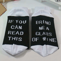 Mens Women Cotton Humor Words Printed Socks Casual Sport Lovers Socks