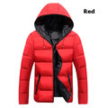 Solid Color Hooded Padded Jacket