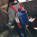 Girls Canvas Hitcolor Schoolbag Shoulder Bag Student Schoolbag