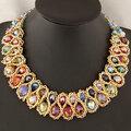 Женское красочное ожерелье из бисера